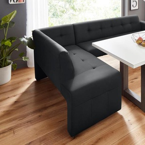 exxpo - sofa fashion Eckbank, schwarz, Material Massivholz, strapazierfähig, frei stellbar