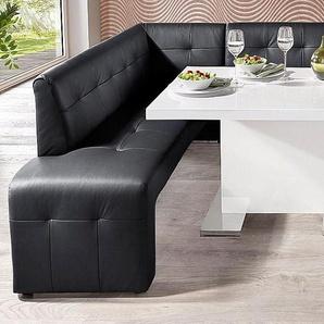 exxpo - sofa fashion Eckbank, FSC®-zertifiziert, schwarz