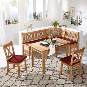 Verschiedene Farbe MASSIVHOLZ Eckbank Kiefer Holz Nuss Farbe mit Polsterung