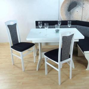 Eckbankgruppe , grau, zeitloses Design, »Madrid«, , , strapazierfähig, FSC®-zertifiziert,