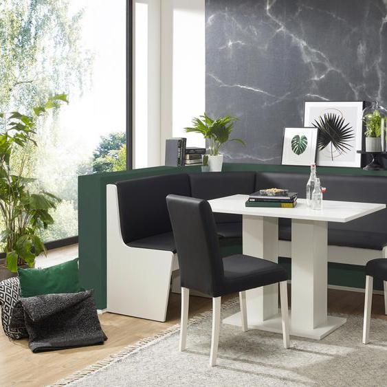 Eckbankgruppe Sylt, (Set, 4 tlg.), Eckbank ist umstellbar, mit Truhe Kunstleder, weiß Eckbankgruppen Tische