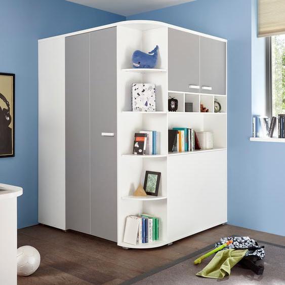 Eckkleiderschrank »Yoris«, 146.4x199x133 cm (BxHxT), Begabino, Material Spanplatte, Kunststoff, Metall