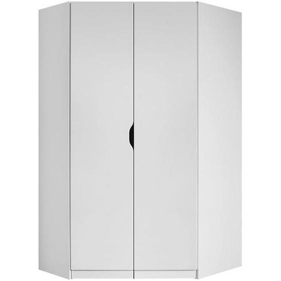 Eckschrank  Alvara | weiß | 117 cm | 197 cm | 104 cm |