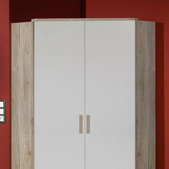 Eckschrank Bergamo B/H/T: 95 cm x 198 cm, 2 braun Kinder Kinderschränke Kindermöbel