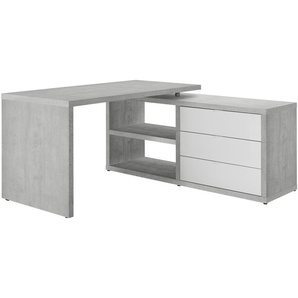 Eckschreibtisch - grau - 154 cm - 74 cm - 140 cm | Möbel Kraft