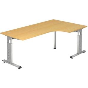 : Tisch, Silber, Buche, B/H/T 200 65(85) 120