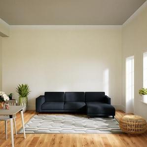 Ecksofa Anthrazit - Flexible Designer-Polsterecke, L-Form: Beste Qualität, einzigartiges Design - 276 x 75 x 162 cm, konfigurierbar