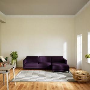 Ecksofa Auberginenlila - Flexible Designer-Polsterecke, L-Form: Beste Qualität, einzigartiges Design - 264 x 75 x 162 cm, konfigurierbar