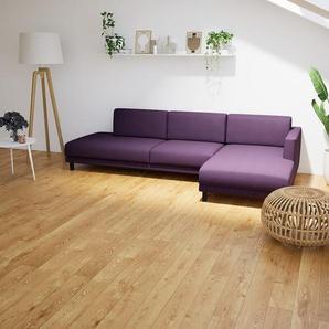 Ecksofa Auberginenlila - Flexible Designer-Polsterecke, L-Form: Beste Qualität, einzigartiges Design - 292 x 75 x 162 cm, konfigurierbar