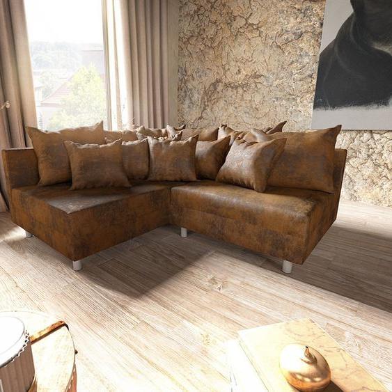Ecksofa Clovis Braun Antik Optik Ottomane Links Modulsofa, Design Ecksofas, Couch Loft, Modulsofa, modular