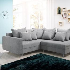 Ecksofa Clovis Grau Flachgewebe Armlehne Ottomane Links Modulsofa, Design Ecksofas, Couch Loft, Modulsofa, modular