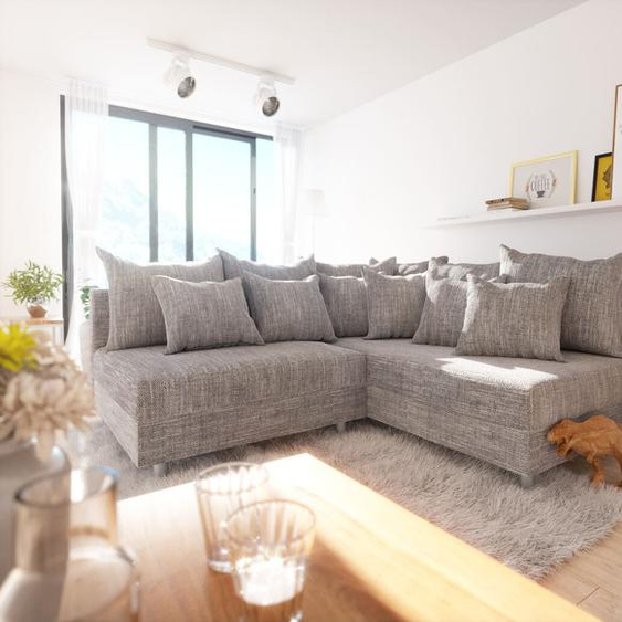 Ecksofa Clovis Hellgrau Strukturstoff Ottomane Rechts Modulsofa, Design Ecksofas, Couch Loft, Modulsofa, modular