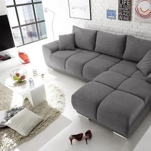 Ecksofa Couch Schlafcouch Schlafsofa Funktionssofa ausziehbar dunkelgrau 289 cm