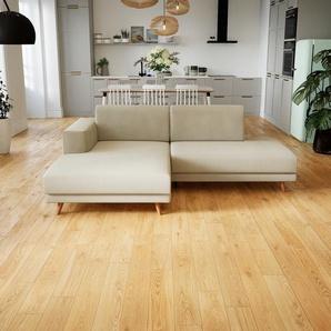 Ecksofa Cremeweiß - Flexible Designer-Polsterecke, L-Form: Beste Qualität, einzigartiges Design - 224 x 75 x 162 cm, konfigurierbar