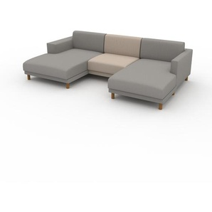 Ecksofa Cremeweiß - Flexible Designer-Polsterecke, L-Form: Beste Qualität, einzigartiges Design - 272 x 75 x 162 cm, konfigurierbar
