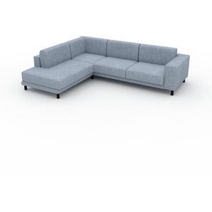Ecksofa Eisblau - Flexible Designer-Polsterecke, L-Form: Beste Qualität, einzigartiges Design - 278 x 75 x 214 cm, konfigurierbar