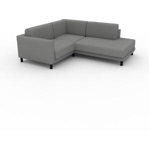 Ecksofa Granitweiß - Flexible Designer-Polsterecke, L-Form: Beste Qualität, einzigartiges Design - 214 x 75 x 186 cm, konfigurierbar