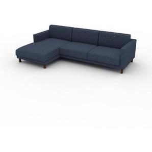 Ecksofa Jeansblau - Flexible Designer-Polsterecke, L-Form: Beste Qualität, einzigartiges Design - 264 x 75 x 162 cm, konfigurierbar