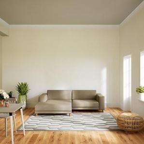 Ecksofa Kaschmirbeige - Flexible Designer-Polsterecke, L-Form: Beste Qualität, einzigartiges Design - 248 x 75 x 162 cm, konfigurierbar