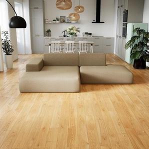 Ecksofa Kaschmirbeige - Flexible Designer-Polsterecke, L-Form: Beste Qualität, einzigartiges Design - 270 x 72 x 168 cm, konfigurierbar