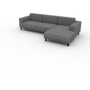 Ecksofa Kiesgrau - Flexible Designer-Polsterecke, L-Form: Beste Qualität, einzigartiges Design - 288 x 75 x 162 cm, konfigurierbar