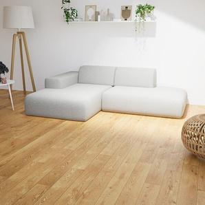 Ecksofa Naturweiß - Flexible Designer-Polsterecke, L-Form: Beste Qualität, einzigartiges Design - 245 x 72 x 168 cm, konfigurierbar