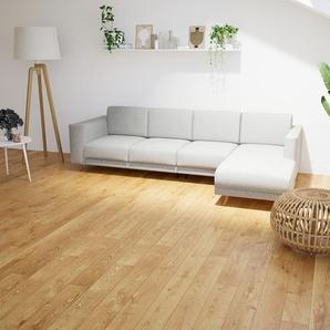 Ecksofa Naturweiß - Flexible Designer-Polsterecke, L-Form: Beste Qualität, einzigartiges Design - 276 x 75 x 162 cm, konfigurierbar