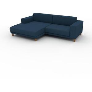 Ecksofa Ozeanblau - Flexible Designer-Polsterecke, L-Form: Beste Qualität, einzigartiges Design - 248 x 75 x 162 cm, konfigurierbar