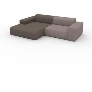 Ecksofa Saharabeige - Flexible Designer-Polsterecke, L-Form: Beste Qualität, einzigartiges Design - 268 x 72 x 168 cm, konfigurierbar