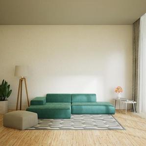 Ecksofa Eisblau - Flexible Designer-Polsterecke, L-Form: Beste Qualität, einzigartiges Design - 310 x 72 x 168 cm, konfigurierbar