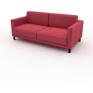 Ecksofa Korallenrot - Flexible Designer-Polsterecke, L-Form: Beste Qualität, einzigartiges Design - 184 x 75 x 98 cm, konfigurierbar