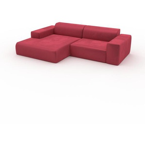 Ecksofa Korallenrot - Flexible Designer-Polsterecke, L-Form: Beste Qualität, einzigartiges Design - 268 x 72 x 168 cm, konfigurierbar