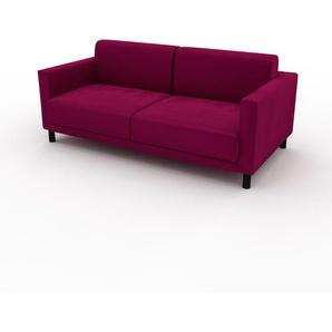 Ecksofa Magentapink - Flexible Designer-Polsterecke, L-Form: Beste Qualität, einzigartiges Design - 184 x 75 x 98 cm, konfigurierbar