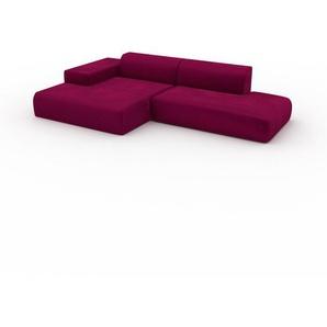 Ecksofa Magentapink - Flexible Designer-Polsterecke, L-Form: Beste Qualität, einzigartiges Design - 310 x 72 x 168 cm, konfigurierbar