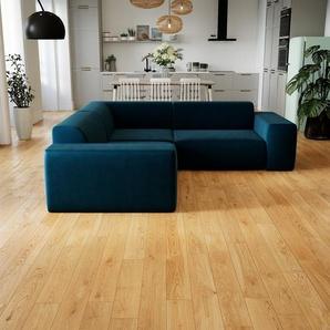 Ecksofa Nachtblau - Flexible Designer-Polsterecke, L-Form: Beste Qualität, einzigartiges Design - 239 x 72 x 239 cm, konfigurierbar