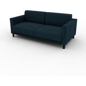 Ecksofa Petrolblau - Flexible Designer-Polsterecke, L-Form: Beste Qualität, einzigartiges Design - 184 x 75 x 98 cm, konfigurierbar