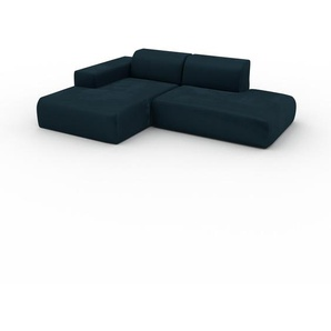 Ecksofa Petrolblau - Flexible Designer-Polsterecke, L-Form: Beste Qualität, einzigartiges Design - 245 x 72 x 168 cm, konfigurierbar