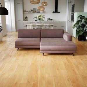 Ecksofa Puderrosa - Flexible Designer-Polsterecke, L-Form: Beste Qualität, einzigartiges Design - 224 x 75 x 162 cm, konfigurierbar