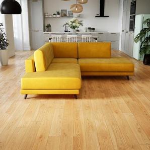 Ecksofa Rapsgelb - Flexible Designer-Polsterecke, L-Form: Beste Qualität, einzigartiges Design - 214 x 75 x 214 cm, konfigurierbar