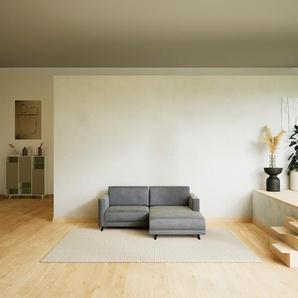 Ecksofa Sandgrau - Flexible Designer-Polsterecke, L-Form: Beste Qualität, einzigartiges Design - 185 x 75 x 162 cm, konfigurierbar