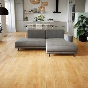 Ecksofa Sandgrau - Flexible Designer-Polsterecke, L-Form: Beste Qualität, einzigartiges Design - 224 x 75 x 162 cm, konfigurierbar