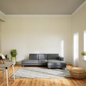 Ecksofa Sandgrau - Flexible Designer-Polsterecke, L-Form: Beste Qualität, einzigartiges Design - 264 x 75 x 162 cm, konfigurierbar