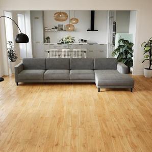 Ecksofa Sandgrau - Flexible Designer-Polsterecke, L-Form: Beste Qualität, einzigartiges Design - 356 x 75 x 162 cm, konfigurierbar