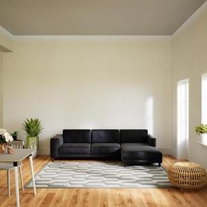 Ecksofa Steingrau - Flexible Designer-Polsterecke, L-Form: Beste Qualität, einzigartiges Design - 276 x 75 x 162 cm, konfigurierbar