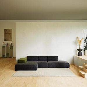 Ecksofa Steingrau - Flexible Designer-Polsterecke, L-Form: Beste Qualität, einzigartiges Design - 319 x 72 x 168 cm, konfigurierbar
