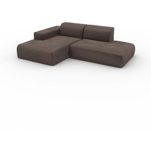 Ecksofa Taupegrau - Flexible Designer-Polsterecke, L-Form: Beste Qualität, einzigartiges Design - 245 x 72 x 168 cm, konfigurierbar