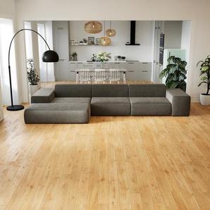 Ecksofa Taupegrau - Flexible Designer-Polsterecke, L-Form: Beste Qualität, einzigartiges Design - 396 x 72 x 168 cm, konfigurierbar