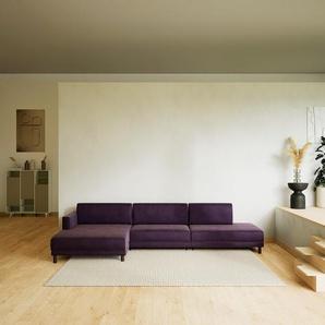 Ecksofa Veilchenlila - Flexible Designer-Polsterecke, L-Form: Beste Qualität, einzigartiges Design - 332 x 75 x 162 cm, konfigurierbar