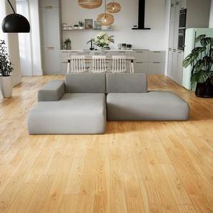 Ecksofa Sandgrau - Flexible Designer-Polsterecke, L-Form: Beste Qualität, einzigartiges Design - 245 x 72 x 168 cm, konfigurierbar