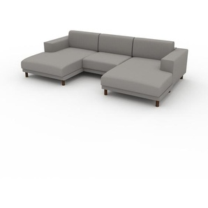 Ecksofa Sandgrau - Flexible Designer-Polsterecke, L-Form: Beste Qualität, einzigartiges Design - 288 x 75 x 162 cm, konfigurierbar